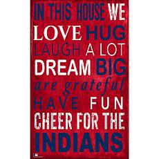 Cleveland Indians In This House Sign