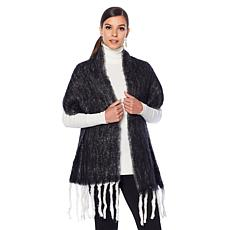 Clever Carriage Charcoal Tassel Scarf