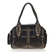 Clever Carriage Diva Studded Leather Satchel