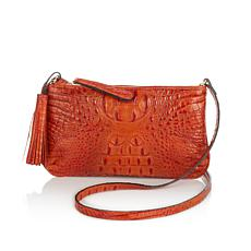 """Clever Carriage """"Lucca"""" Italian Leather Crossbody - Limited Quantity"""