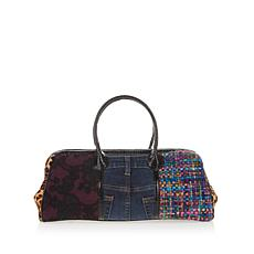 Clever Carriage Vintage Denim Interwoven Dr. Satchel