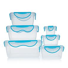 ClipFresh 12-piece Airtight Plastic Food Storage Container Set
