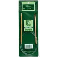"Clover 36"" Bamboo Circular Knitting Needles - Size 8"