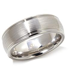 Cobalt 8mm Brushed Wedding Band