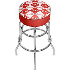 Coca-Cola Checkered Pub Stool
