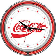 "Coca-Cola ""Enjoy Coke"" White Neon Clock"