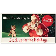 "Coca-Cola ""Stock up for the Holidays"" Canvas Art"