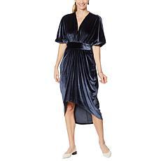 Coldesina Butterfly Kaftan Dress- Charcoal