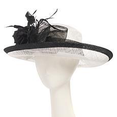 Collection 18 Dressy Wide-Brim Straw Hat