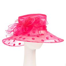 Collection 18 Organza Dressy Wide-Brim Hat
