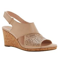 dd449408e0587 Collection by Clarks Lafley Joy Leather Cork Wedge Sandal ...