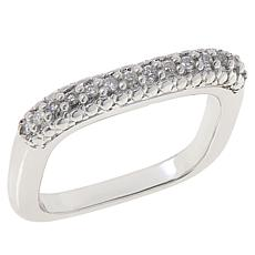 Colleen Lopez 0.17ctw Diamond Square Band Ring