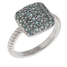 Colleen Lopez 0.68ctw Green Alexandrite Sterling Silver Cluster Ring
