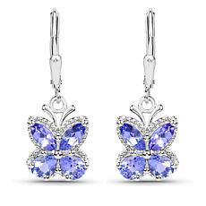 Colleen Lopez 1.01ctw Tanzanite Butterfly Drop Earrings
