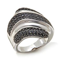 "Colleen Lopez 1.37ctw Black Spinel ""Wave"" Ring"