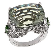 Colleen Lopez 15.33ctw Prasiolite, Chrome Diopside and Zircon Ring