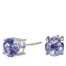 Colleen Lopez 1ctw Round Tanzanite Stud Earrings