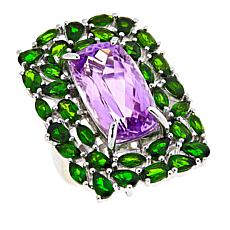 Colleen Lopez 25.18ctw Chrome Diopside and Kunzite Ring