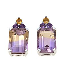 Colleen Lopez 3.45ctw Ametrine and Gem Stud Earrings