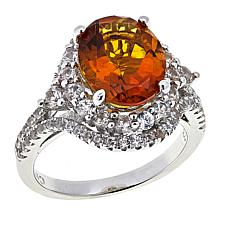 Colleen Lopez 4.28ctw Madeira Citrine and White Zircon Ring