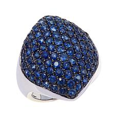 Colleen Lopez 4.7ctw Pavé Sapphire Sterling Silver Ring