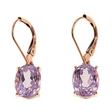 Colleen Lopez 4.9ctw Kunzite 10K Gold Drop Earrings