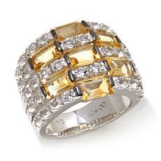 Colleen Lopez 5-Row Gemstone and White Topaz Band Ring