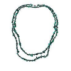 "Colleen Lopez 60"" Gemstone Beaded Necklace"