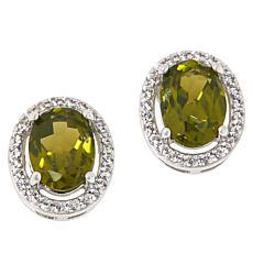 Colleen Lopez Arizona Peridot and White Zircon Stud Earrings