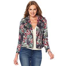 Colleen Lopez Blooming Botanical Moto Jacket