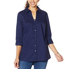 Colleen Lopez Bow Back Button-Down Blouse