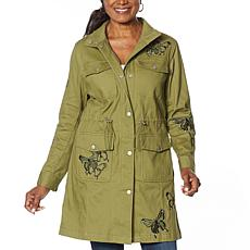 Colleen Lopez Butterfly Anorak Jacket with Pockets