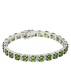 Colleen Lopez Chrome Diopside and White Zircon Tennis Bracelet