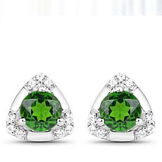 Colleen Lopez Chrome Diopside Triangle Stud Earrings