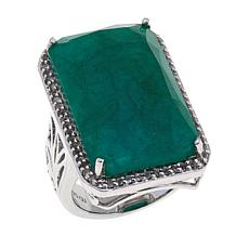 Colleen Lopez Color-Enhanced Emerald and Gem Ring