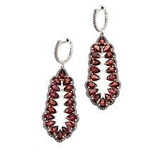 Colleen Lopez Colored Gemstone and White Zircon Drop Earrings