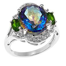 Colleen Lopez Colored Quartz and Gem Sterling Silver Ring