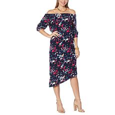 Colleen Lopez Convertible Off-the-Shoulder Midi Dress