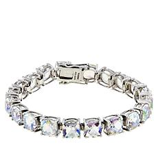 Colleen Lopez Cushion-Cut White Rainbow Quartz Line Bracelet