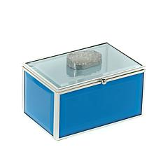 Colleen Lopez Drusy Quartz Glass Jewelry Box