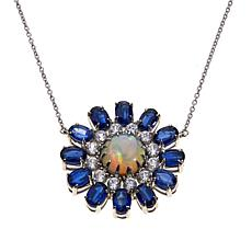 Colleen Lopez Ethiopian Opal, Kyanite & Zircon Necklace
