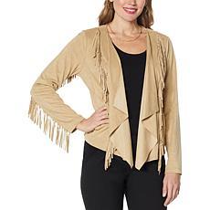 Colleen Lopez Faux Suede Fringe Jacket