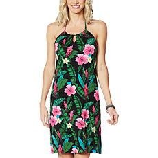 Colleen Lopez Floral Print Halter Dress