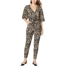 Colleen Lopez Flutter-Sleeve Jumpsuit with Pocket