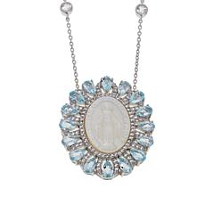 "Colleen Lopez Gemstone and Mother-of-Pearl Virgin Mary 18"" Necklace"