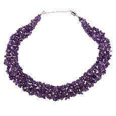 Colleen Lopez Gemstone Chip Collar Necklace with Magnetic Clasp