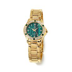 Colleen Lopez Gemstone Dial Crystal Bezel Watch