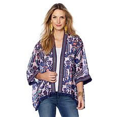 Colleen Lopez Global Expedition Printed Kimono