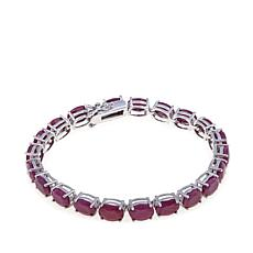 Colleen Lopez Indian Ruby Sterling Silver Line Bracelet