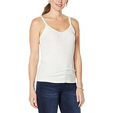 Colleen Lopez Knit Tank with Lace Detail